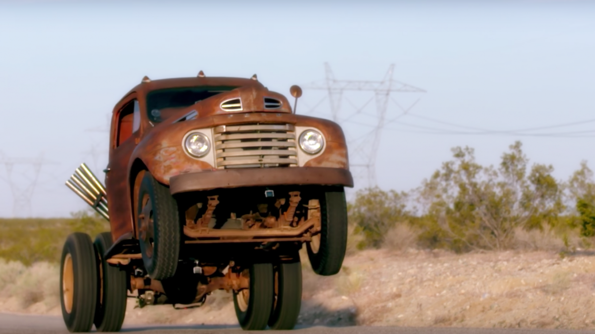 Watch An Old Ford Truck Pulling Some Ridiculous Wheelies