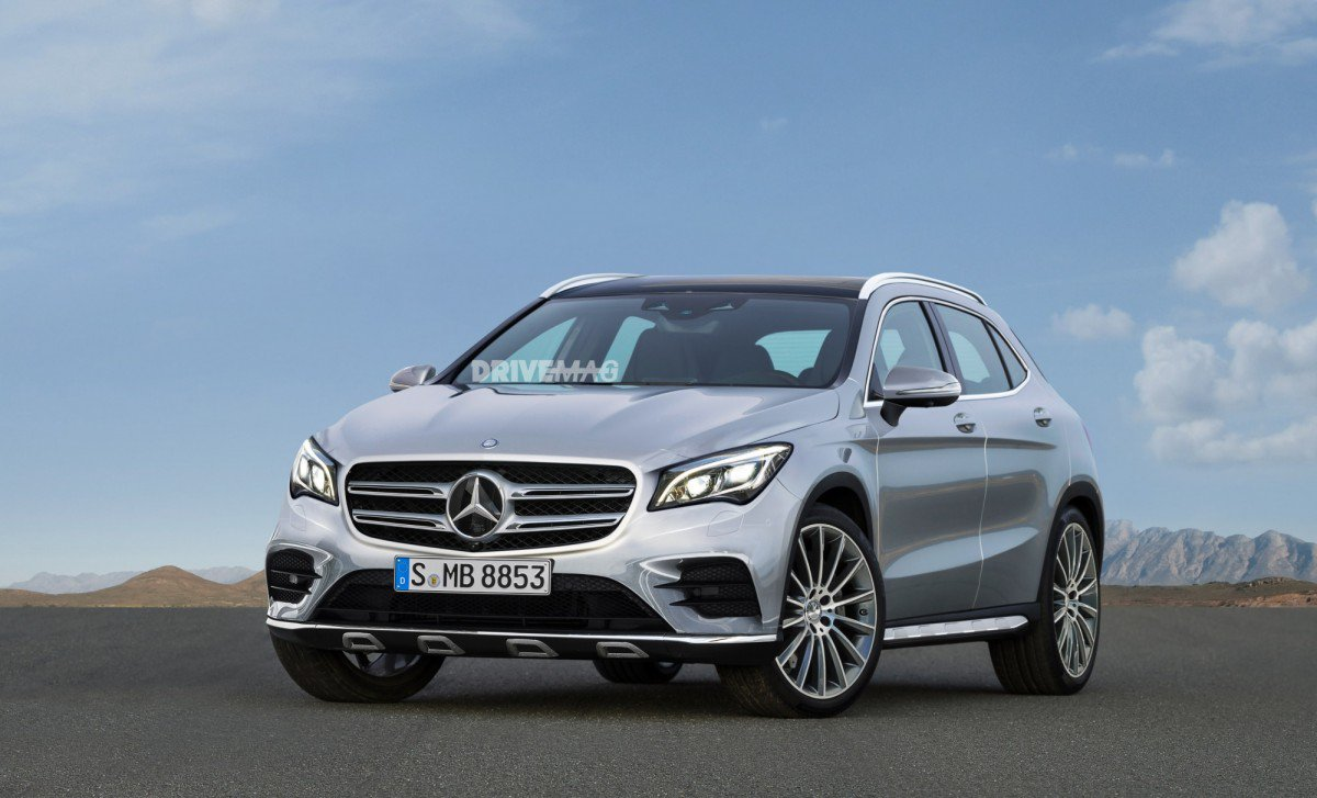 facelifted 2018 mercedes benz gla spied flaunting new led headlights. Black Bedroom Furniture Sets. Home Design Ideas