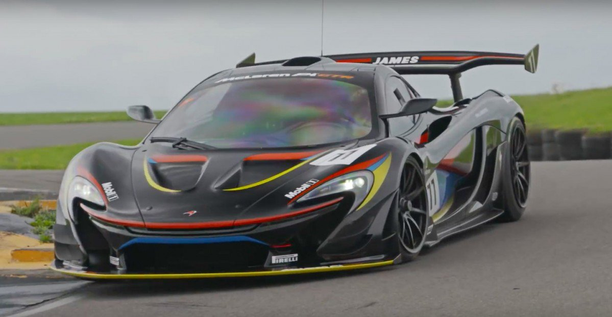 watch the mclaren p1 gtr set new record lap on the. Black Bedroom Furniture Sets. Home Design Ideas