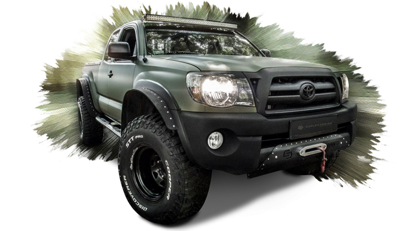 Carlex-Medicated Toyota Tacoma Interior Looks Fit for Crocodile Dundee