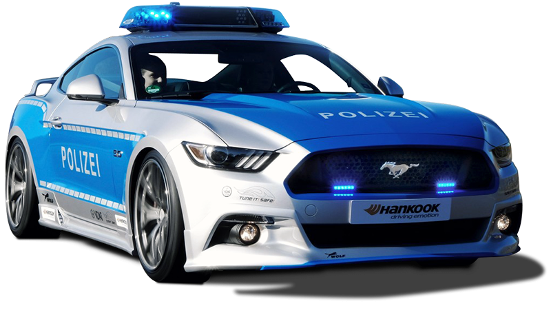 The Ford Mustang GT Looks Good in German Police Uniform