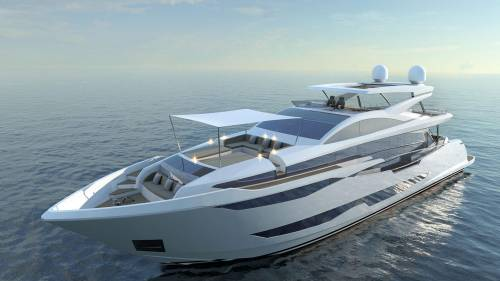 Pearl 95 is the first superyacht built for Pearl Yachts