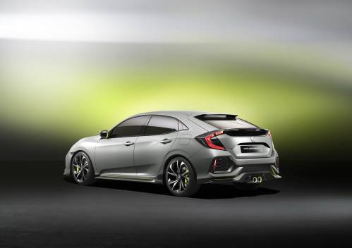 The Look Of Honda's Civic Hatchback For Europe Will Pretty Much Mirror This Concept