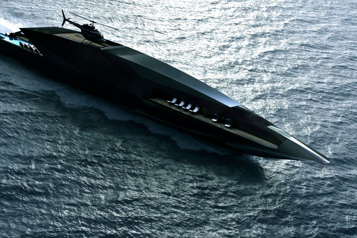 Design A Master Suite The Black Swan Yacht Concept Is Perfect For A Supervillain