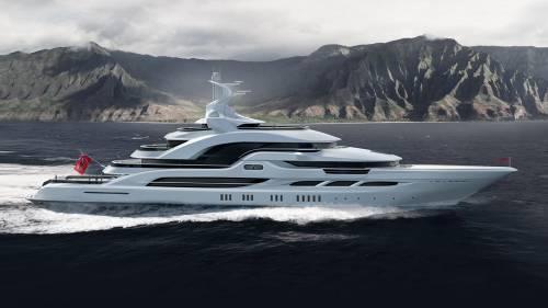 Oceanco Shows 90 m Concept Sunny Memories