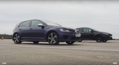 Ford Focus RS Takes on VW Golf R in Battle of the AWD Hot Hatches