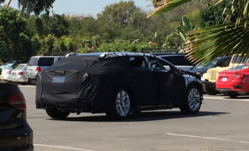 Faraday Future Electric Vehicle Prototype Spotted Bearing Heavy Camo