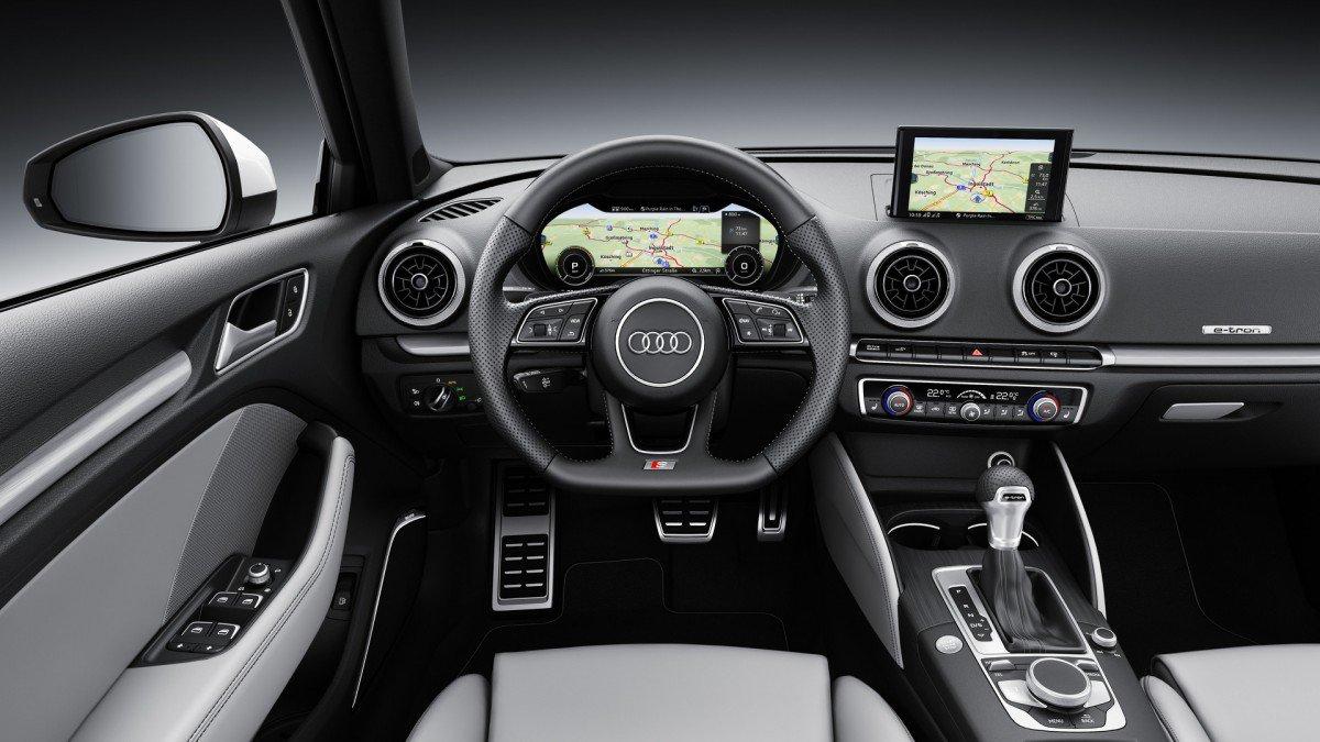 2017 audi a3 sportback e tron bags mild update and virtual cockpit. Black Bedroom Furniture Sets. Home Design Ideas