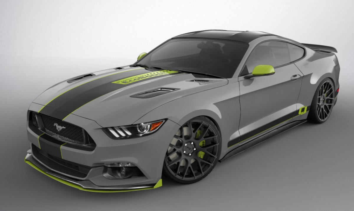 Its raining custom mustangs at the 2016 sema show