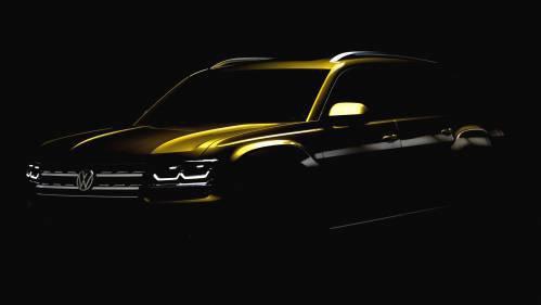 Volkswagen Serves Darkened Photo to Start the Teasing for Upcoming Atlas Midsize SUV