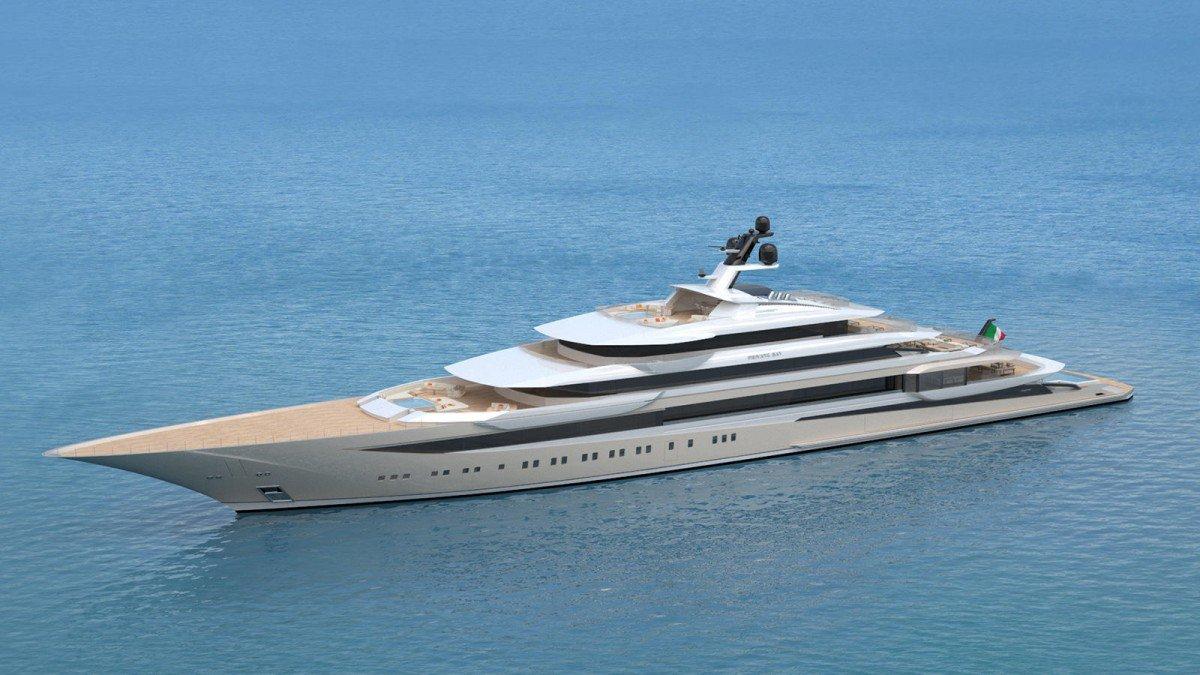 Superyachten concept  Private Bay Is A 123 m Superyacht Concept Designed By Horacio Bozzo