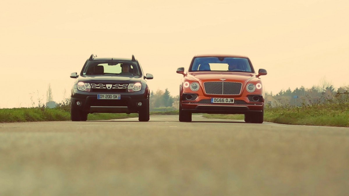 The French Pit Dacia Duster Vs Bentley Bentayga In A Crazy Test Driv