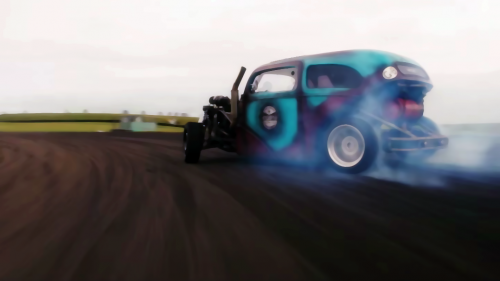 This Saab-Powered Drift Rod Brings Three Worlds Together