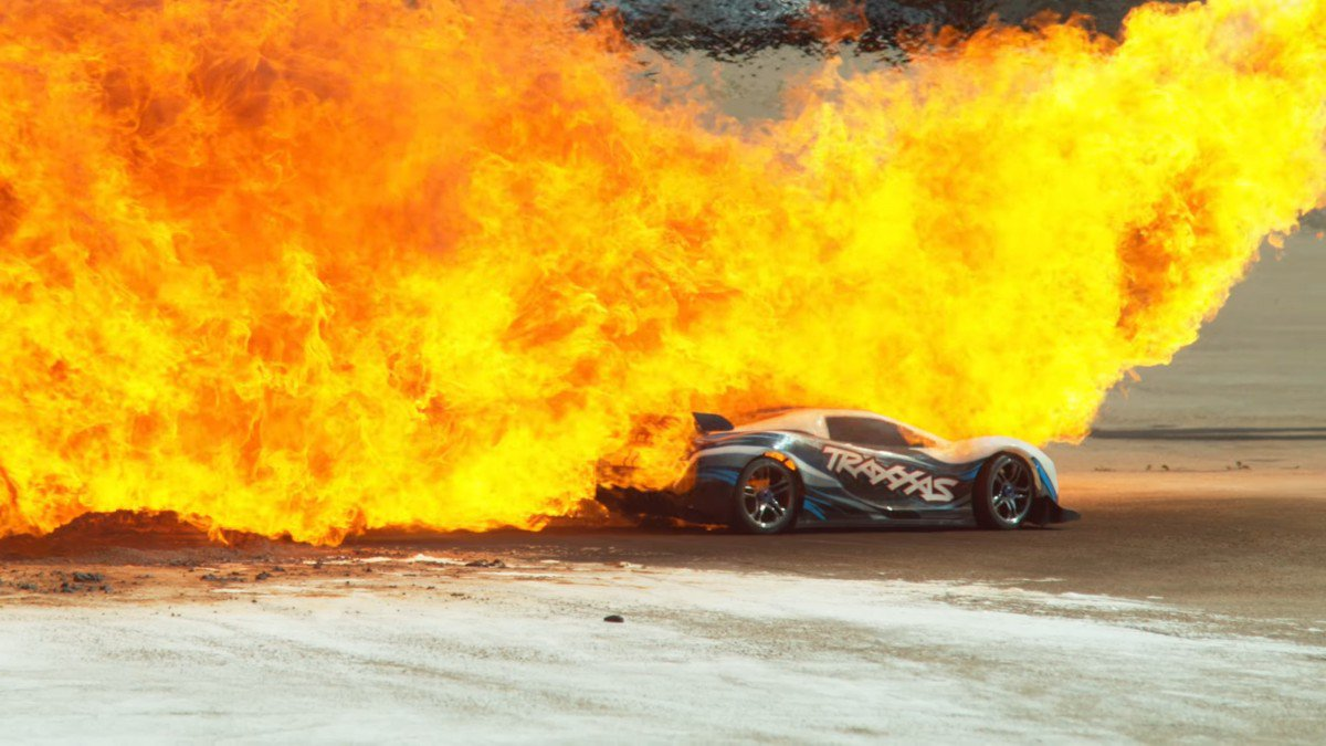 800 Traxxas XO1 RC Car Does All Sort of Crashes at 100 MPH and