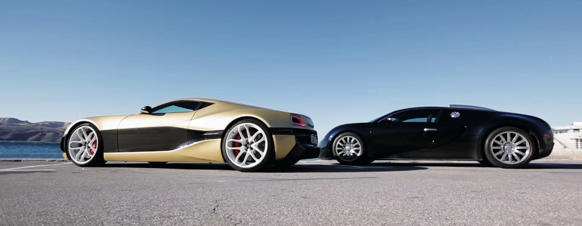 Rimac Concept One Goes Against The Veyron On The Track