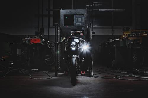 "MV Agusta presents ""Dragster Blackout."" Motorcycle Art Level: 100"