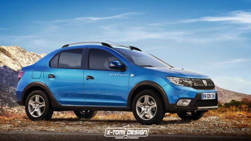 Dacia Logan Looks Fitting as Raised Stepway Model