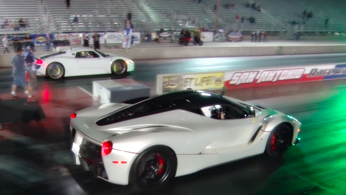 porsche 918 launch control with Here S What A Laferrari Vs 918 Spyder 3m Drag Race Looks Like on 380247 also Porsche 918 Spyder Vs Lamborghini Aventador Pirelli Edition Drag Race likewise Is This The 9912 Porsche 911 Gt3 Touring Package Prototype Has Rear Seats 119604 in addition This Porsche 918 Driver Nearly Rammed A Taxi While Attempting To Rev In First Gear besides Porsche 918 Spyder Vs Lamborghini Aventador Pirelli Edition Launch Control Drag Race.
