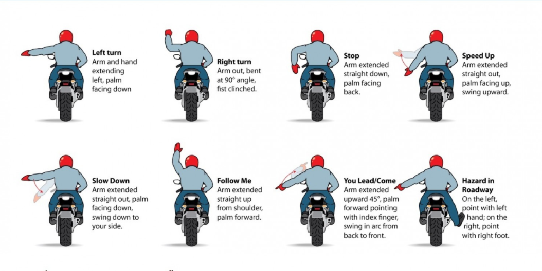 Motorcycle Hand Signals - Infographic