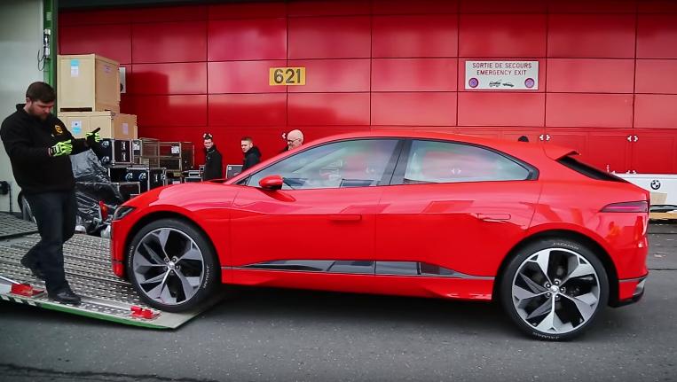 Watch Jaguar I Pace Concept Quietly Roll Into Geneva Motor