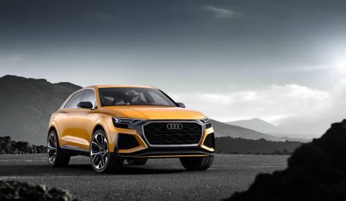 Audi Q8 Concept Makes Geneva 2017 Entry with TFSI V6 and Mild Hybrid Claims