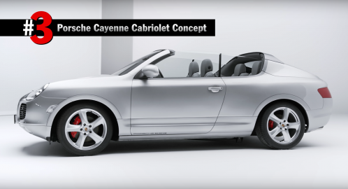 Porsche Top 5 Concepts Video Reveals Bonkers Cayenne Cabriolet