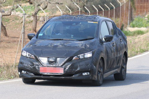 First spy shots of the future Nissan Leaf