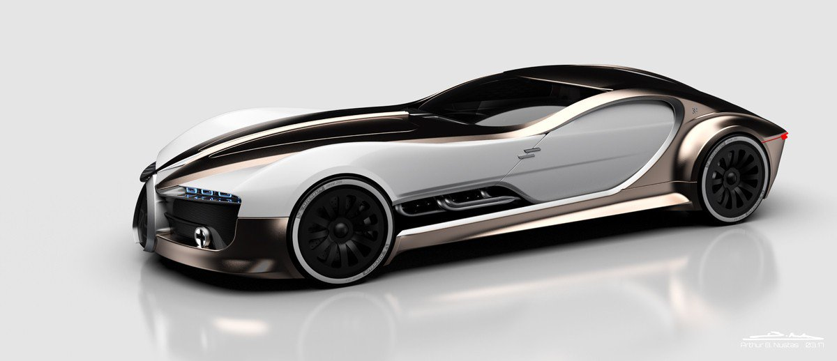 Modern Bugatti Type 57 Atlantic Envisioned With Chiron