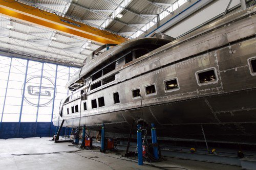 Dynamiq Yachts new GTT 115 by Studio Porsche takes shape