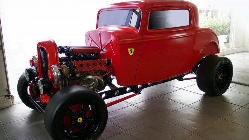This Ferrari-powered Ford hot rod messes with our brains