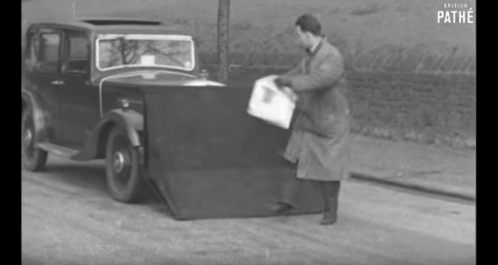 Safety systems in the 1930s: the pedestrian catcher