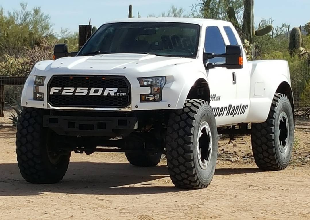 The F-250 MegaRaptor makes the Ford F-150 Raptor look like a cute pup...