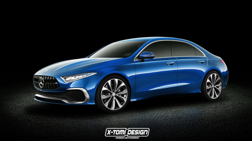 Here's a down-to-earth take on the upcoming crease-free A-Class sedan