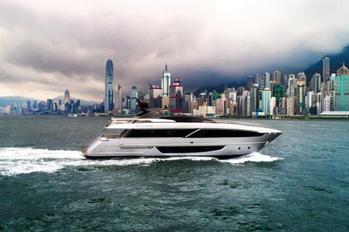 The Riva 100 Corsaro in Hong Kong for its world premiere