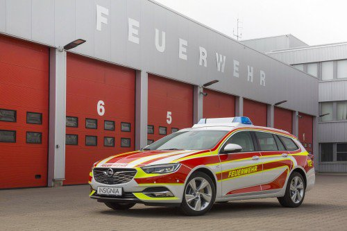Opel fights fire with modded Insignia Sports Tourer and Vivaro van