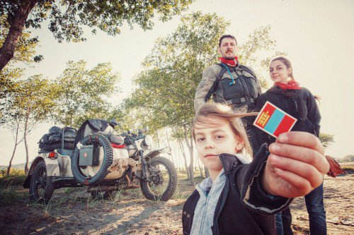 Photographer, riding to Mongolia with his wife and kid