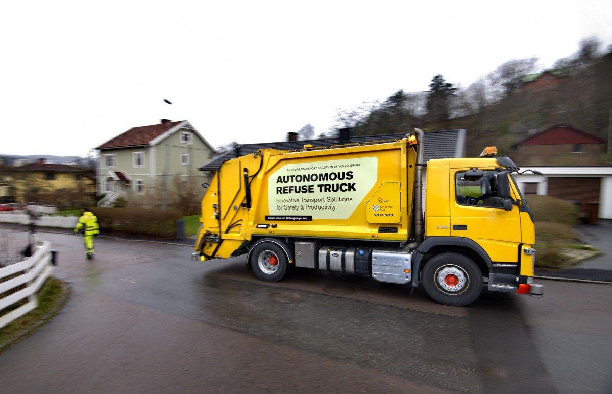Volvo just invented the autonomous garbage truck
