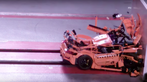 Crashing a LEGO Porsche is the most beautiful stupid thing ever