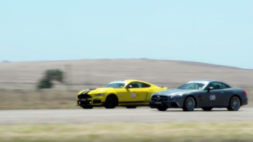 Place your bets: Mercedes-AMG SL65 vs. Roush Mustang drag race