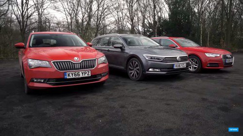 Video comparison: Audi A4 Avant vs Volkswagen Passat Estate vs Skoda Superb Estate