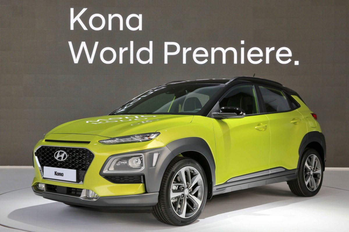 2018 hyundai kona global b segment suv reveals youthful styling. Black Bedroom Furniture Sets. Home Design Ideas