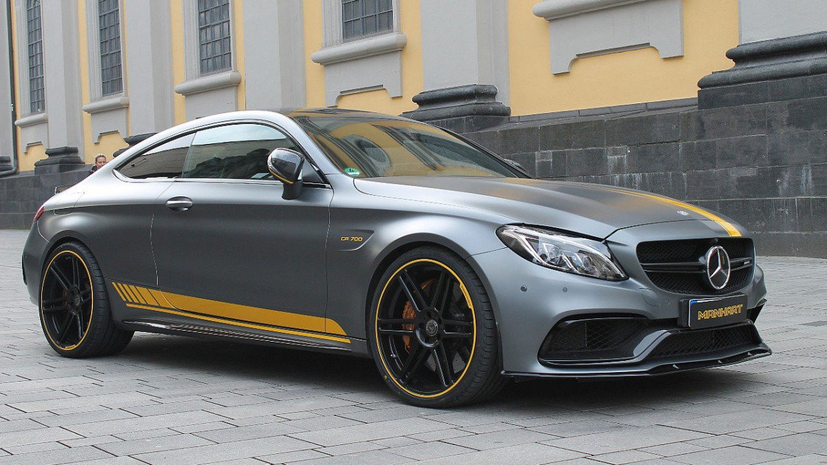 Manhart works a sweat on the amg c63 s squeezes 700 hp for How much is a mercedes benz c63 amg