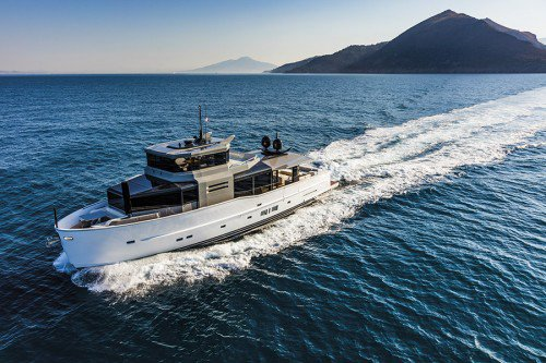 A85S is the latest 26m yacht from the Italian yard Arcadia
