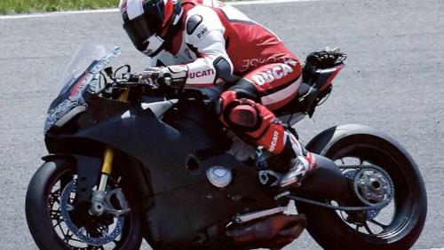 Ducati V4 Superbike spied