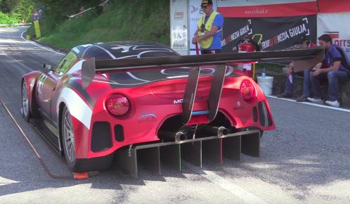 This Alfa Romeo 4C is a hill climb V8 monster