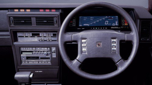The definitive collection of cool 1980s digital dashboards in Japanese cars