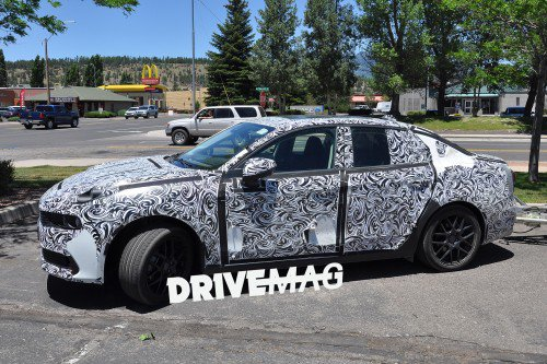 Geely's Lynk & Co. 03 electrified sedan prototype snapped during testing