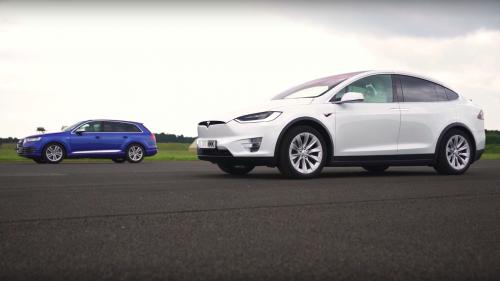 Tesla Model X picks on Audi SQ7, teaches it a lesson