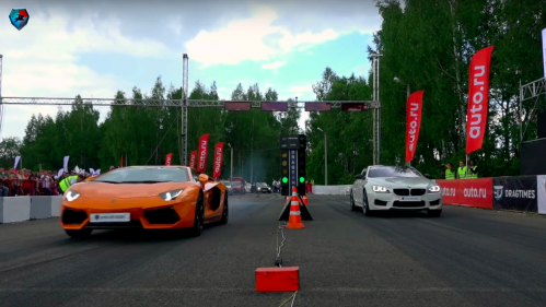 Tuned BMW M6 gets shamed by a doped Lamborghini Aventador