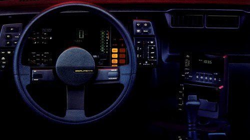 The definitive collection of cool 1980s digital dashboards in American cars